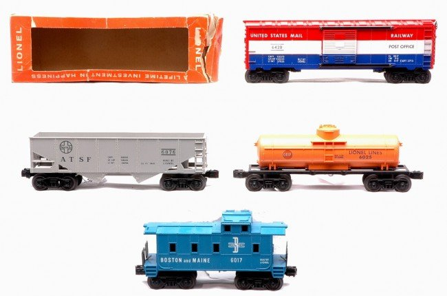 15: Lionel Freights 6025 6076 6428 6017 MINT