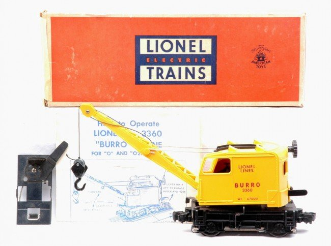 16: Lionel 3360 Operating Burro Crane LN Boxed