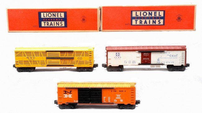 17: Lionel Freight Cars 6356 6672 w/OBs 6468-25 LN