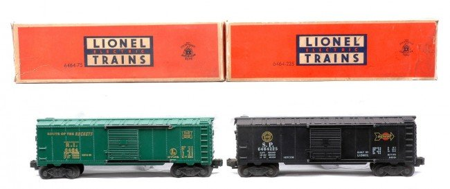 20: Lionel 6464-75 RI Type I 6464-225 SP Type IIa OBs