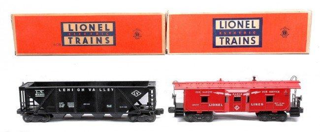 22: Lionel 6436 LV Hopper 6517 Caboose MINT OBs