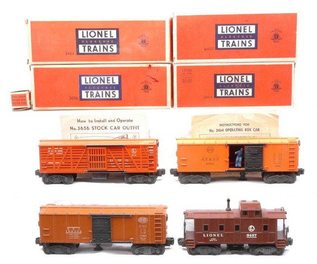 23: Lionel 3464 SF 3464 NYC 3656 Cattle 6457 LN OBs