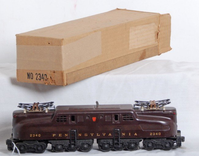 803: Lionel No. 2340 Tuscan PRR GG-1 in OB w/insert