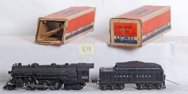 819: Lionel No. 226 loco and 2226W tender in OB w/inser