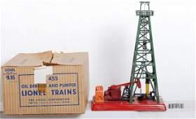 1197: Lionel No. 455 oil derrick and pumper in OB