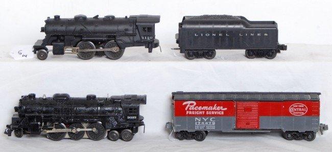 5: Lionel No. 2037, 1110, tender, NPC boxcar