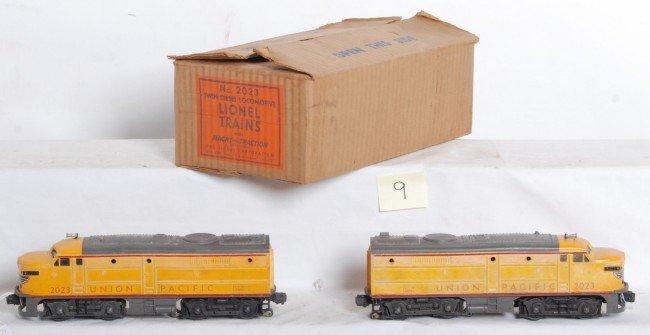 9: Lionel No. 2023 Union Pacific Alco A units in OB
