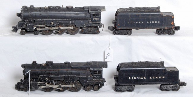 12: Lionel No. 2055, 2025 and two tenders with whistles