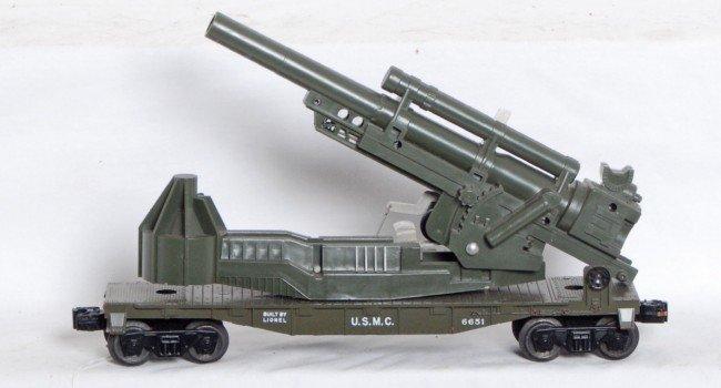 95: Lionel No. 6651 U.S.M.C cannon car