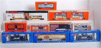 656 10 Atlas O Lionel MTH freight cars
