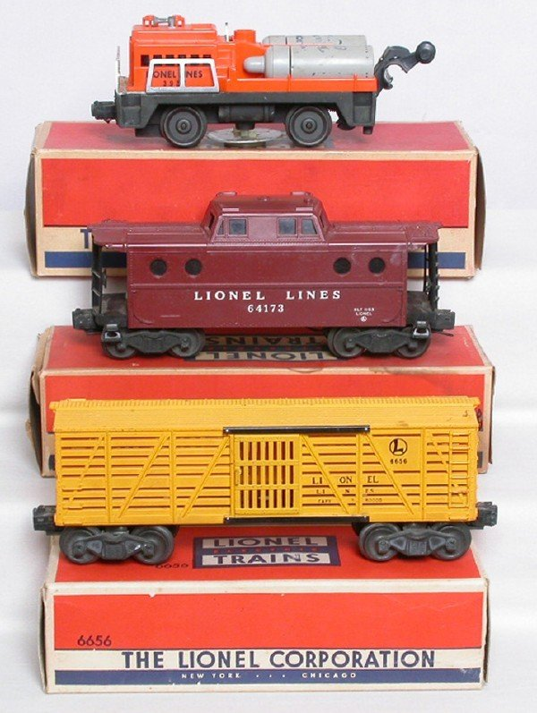 3001: Lionel 3927 track cleaner 6417 caboose 6656 stock