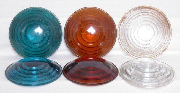 3005: 5-3/8 blue amber roundels Kopp Corning Macbeth
