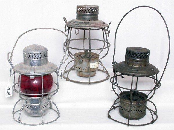 3014: Adlake Penn Central lantern, two Handlan NYCL