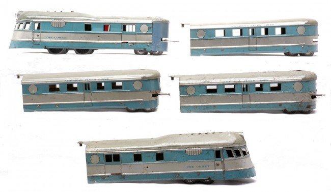 14: AF Comet Litho Blue/Silver Streamliner Set 992RT