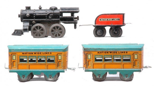 18: AF Litho Nation Wide Pass Set Loco/Tender Coaches