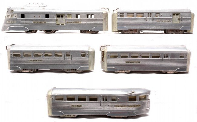 24: AF Silver Burlington Zephyr Streamliner Set 1327