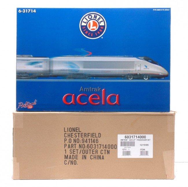 574: Lionel Amtrak Acela Passenger Set 31714 MINT OB
