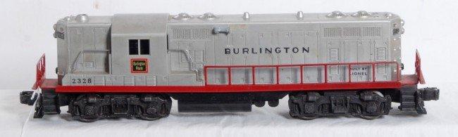 6: Lionel No. 2328 Burlington GP-7 diesel locomotive