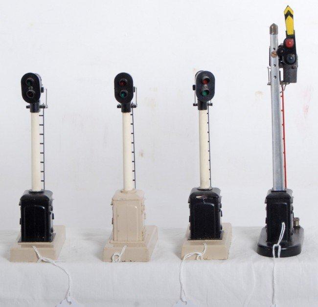 12: Lionel 151 semaphore,  three 253 block signals