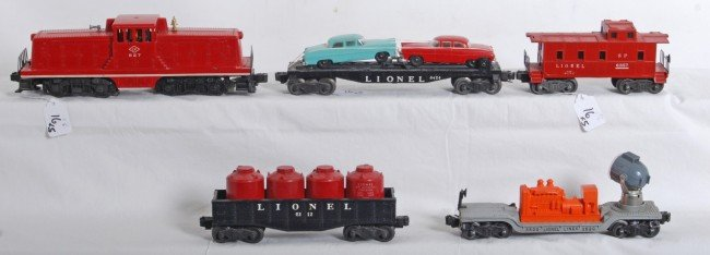 16: Lionel No. 627, 3620, 6424, 6112, 6357