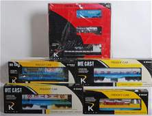 128 K Line NASA diesel freight set and 4 cars