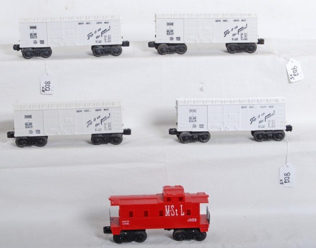 802: Four Lionel No. 6014 Frisco and 6059 M.St.L.