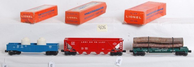 805: Lionel No. 6162-110, 6361, 6436-110 in OB