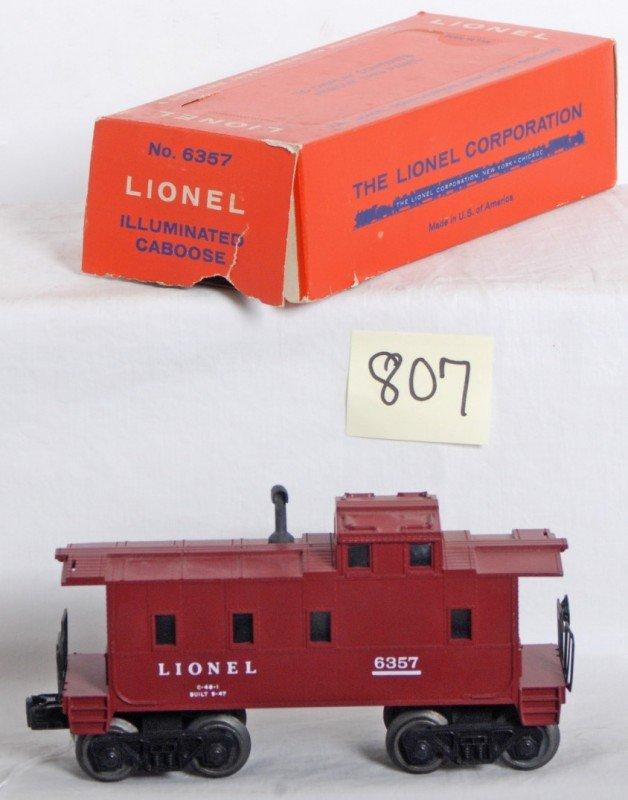 807: Lionel No. 6357 illuminated caboose in OB
