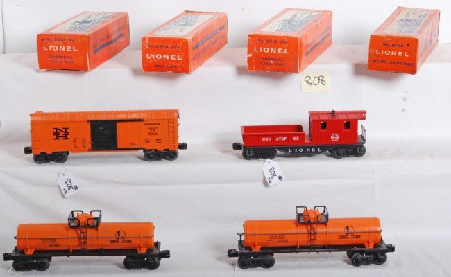 808: Lionel No. 6464-735, 6130, two 6315-60 in OB