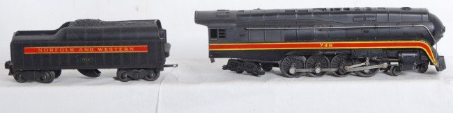 809: Lionel No. 746 Norfolk and Western J class streaml - 2