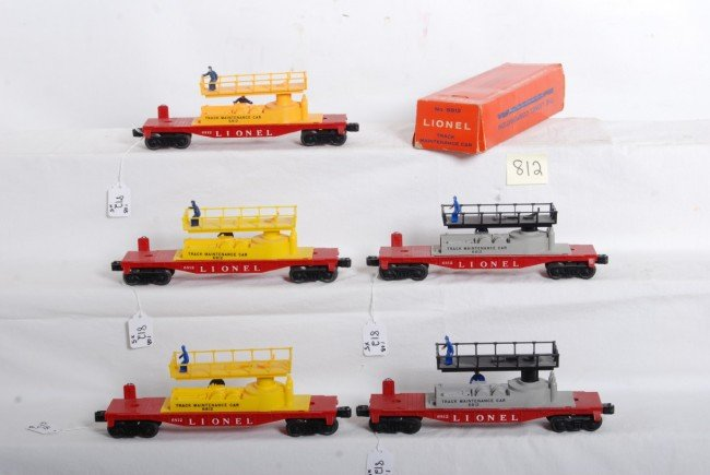 812: Five variations of Lionel No. 6812 with one box