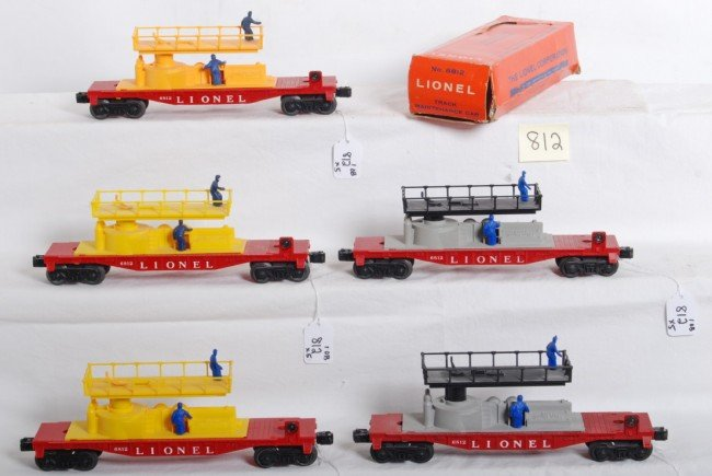 812: Five variations of Lionel No. 6812 with one box - 2
