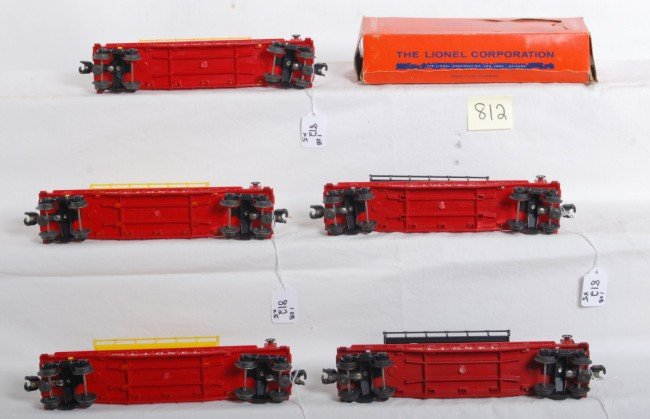 812: Five variations of Lionel No. 6812 with one box - 3
