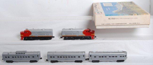 817: Lionel set 11590 diesel type passenger w/horn in O