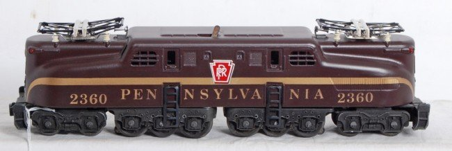 820: Lionel No. 2360 Tuscan PRR single stripe GG-1