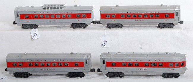 823: Lionel 2442, 2444, 2445, 2446 red stripe passenger