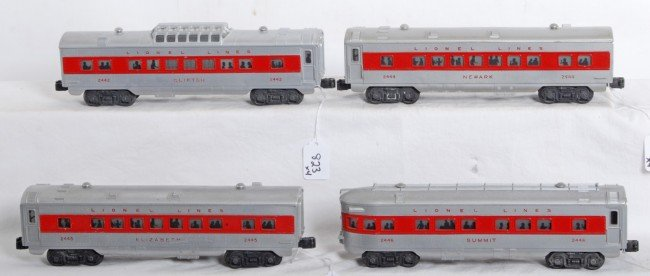 823: Lionel 2442, 2444, 2445, 2446 red stripe passenger - 2