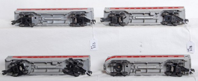 823: Lionel 2442, 2444, 2445, 2446 red stripe passenger - 3