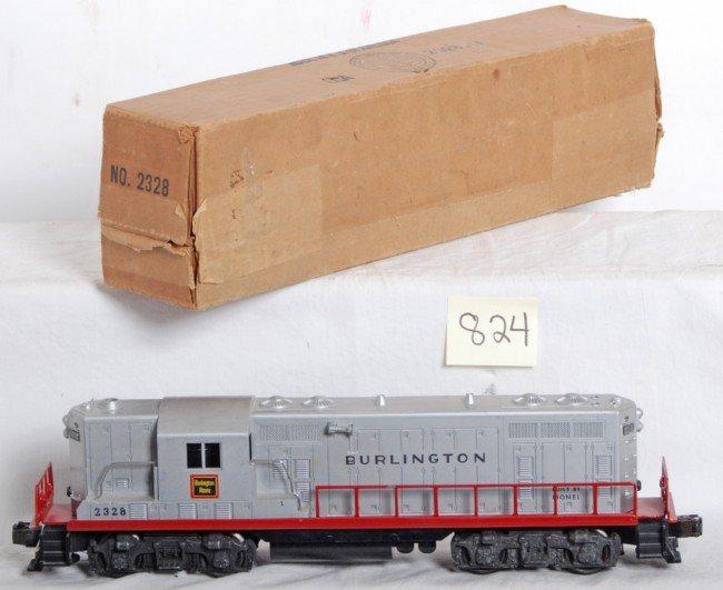 824: Lionel No. 2328 Burlington Route GP-7 diesel in OB