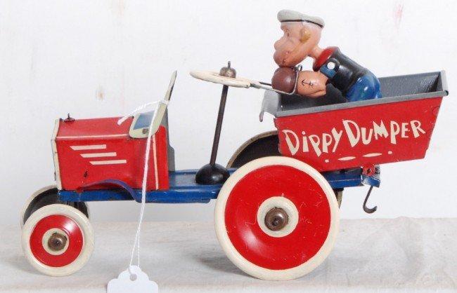 885: Marx Popeye Dippy Dumper tin windup toy