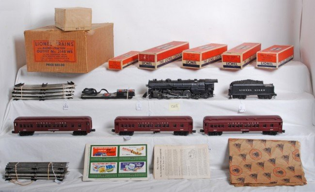 1268: Boxed Lionel outfit No. 2148WS Hudson 773 set