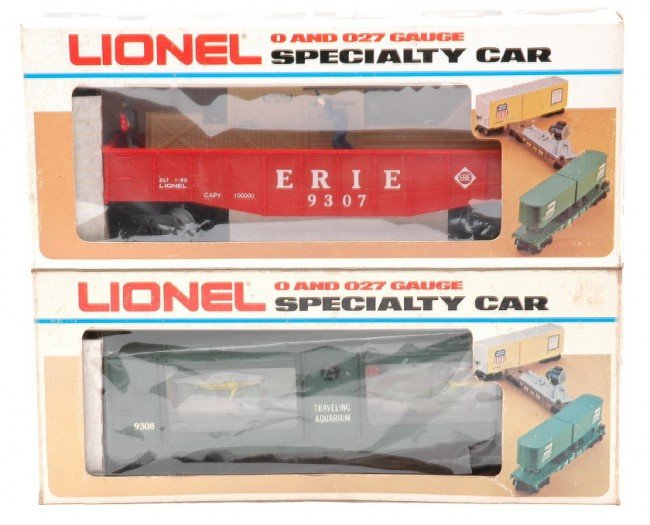 2: Lionel 9307 Animated Gondola 9308 Aquarium MIB