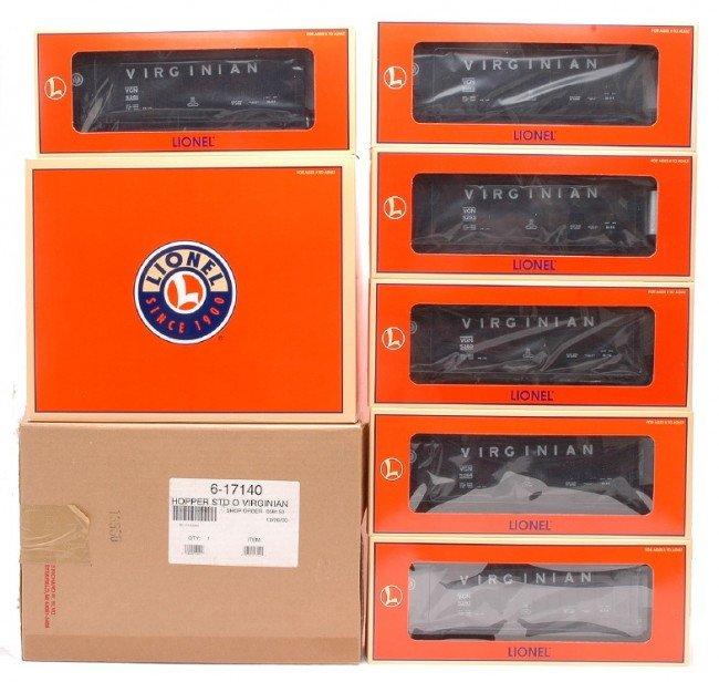 8: Lionel 17140 Virginian Hopper Six Pack MINT OBs