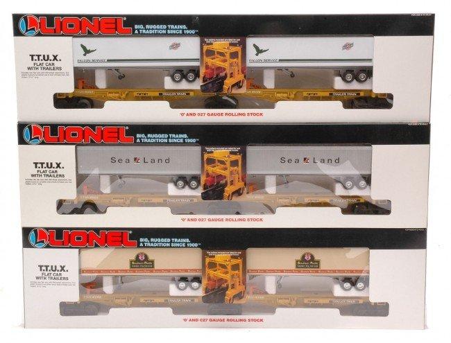14: Lionel TTUX Flatcar Sets 16322 16334 16345 MIB
