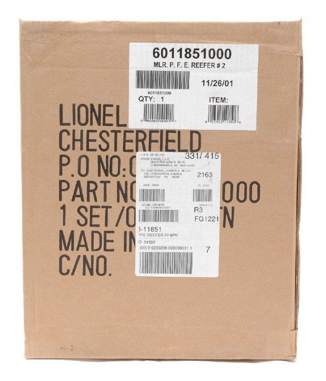 16: Lionel 11851 PFE Reefers no. 2 six-Pk MINT OB
