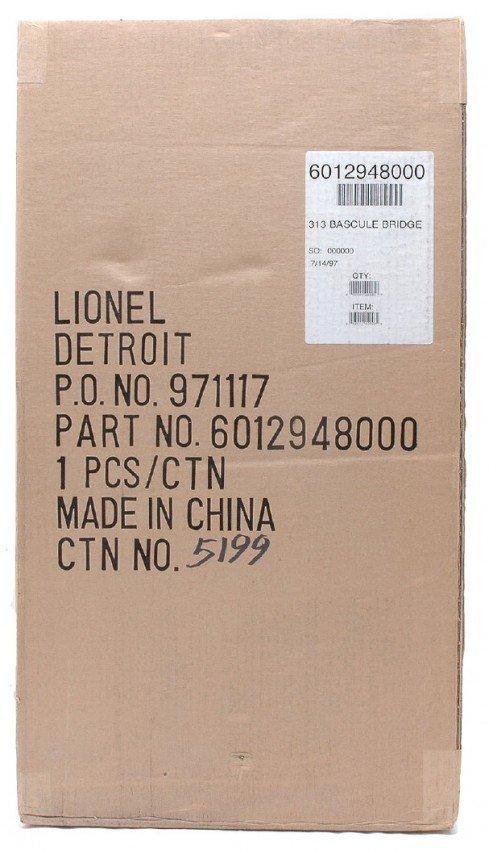 18: Lionel 12948 no. 313 Bascule Bridge MINT Boxed
