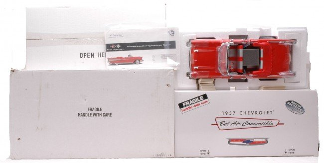 373: Danbury Mint 1:12 Scale 1957 Chevy Bel Air MIB