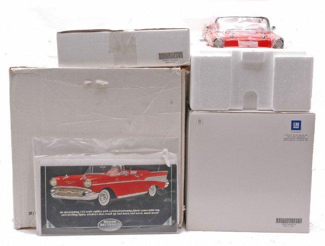 373: Danbury Mint 1:12 Scale 1957 Chevy Bel Air MIB - 2