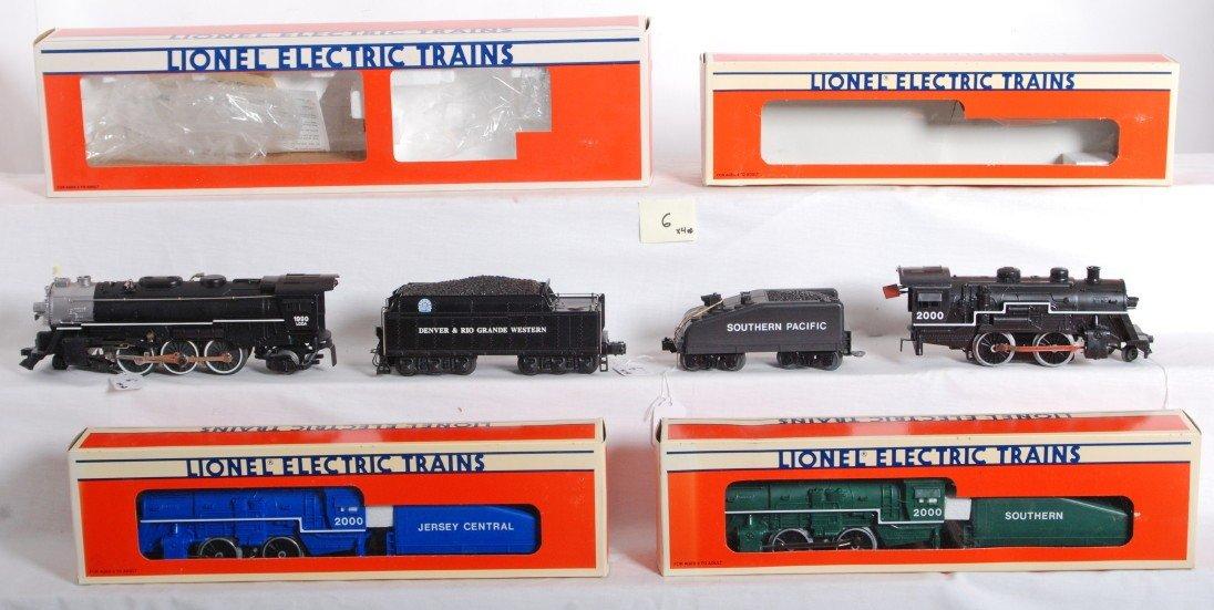 6: 4 Lionel steam locos 18090, 18710, 18711, 18712
