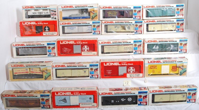 12: 20 Lionel reefers and other freight cars
